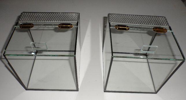 Dwa Terraria szklane 15x15x15 cm
