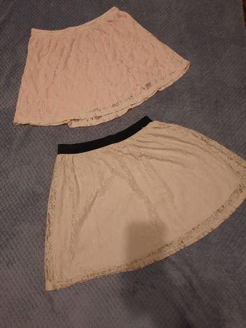 Dwie spódnice koronkowe xs 34