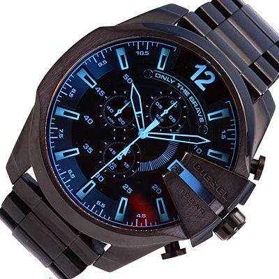 Zegarek DIESEL DZ 4318 na bransolecie z poświatą-gwarancja