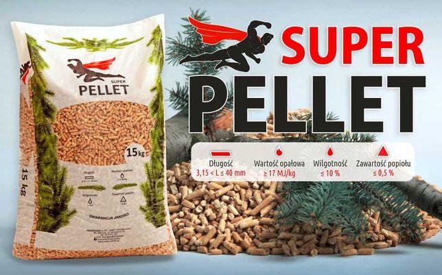 SUPER Pellet 6mm pelet drzewny 100% BEZ SPIEKÓW , DOWÓZ GRATIS