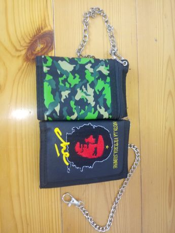 2x portfel z przypinką