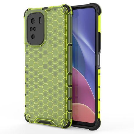 Capa Silicone Traseira Honeycomb Case Armor Cover Bumper Xiaomi Redmi K40 Pro+ / K40 Pro / K40 / Poco F3 Verde