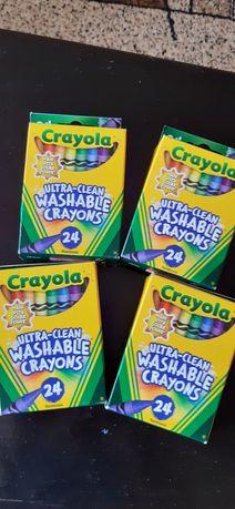 Восковые ультрачистые мелки Crayola,24 штуки