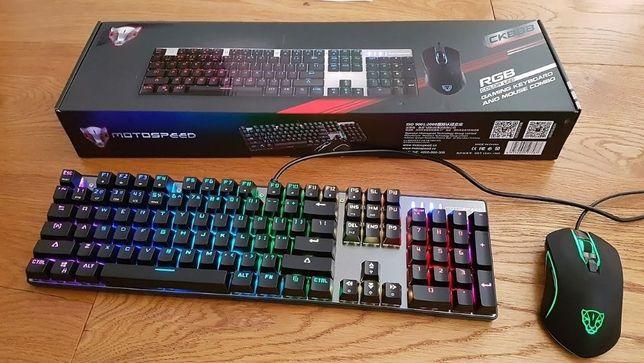 Механическая клавиатура + мышь Motospeed CK 888