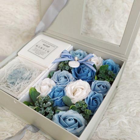 Подарок для женщины. Набор роз из мыла. Подарок на день рождения. Цвет