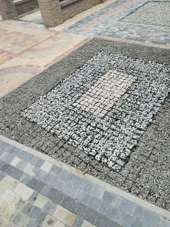 Ażury betonowe, płyta betonowa kratka trawnikowa, kratka