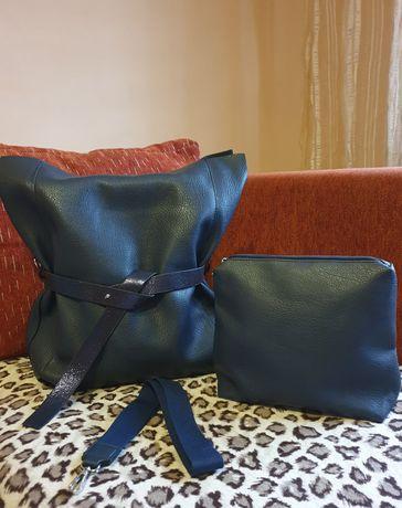 Mega torba w zestawie z kosmetyczką
