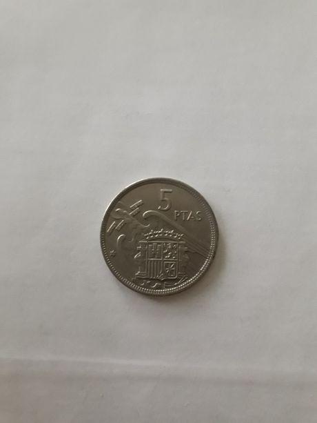 Монета 5 песет 1957 Испания