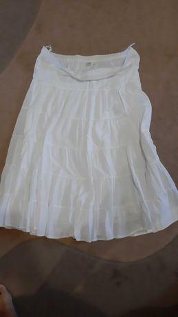 Юбки 2 с подъюбниками лен белая длинная и Florence&Fred с поясочком