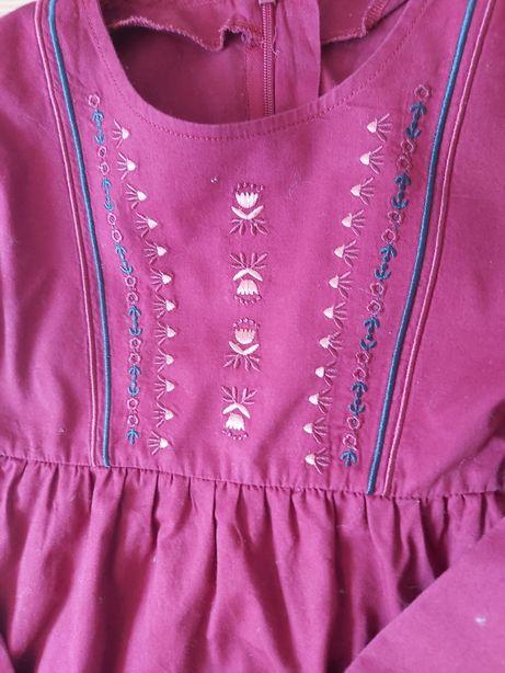 Sukienka dziewczęca bawełna, haft