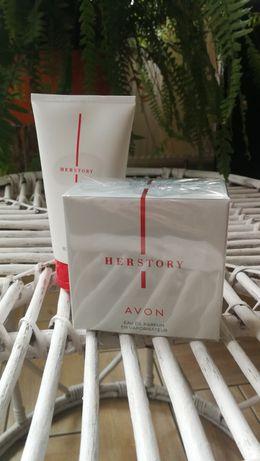 Avon Woda perfumowana HerStory 50ml +balsam
