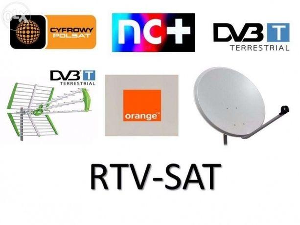 Montaż naprawa , serwis i ustawianie anten satelitarnych i naziemnych.