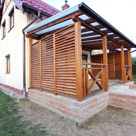 Zadaszenie tarasu Pergola altana shuterrs usługi stolarskie