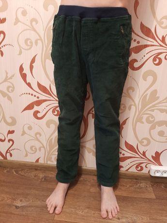 Флисовые вельвет.штаны.на мальч.рост 140-150см. Модные Теплые