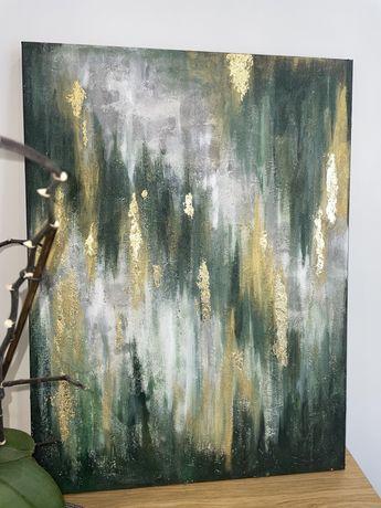 Картина акрилом з поталлю абстракція 60/80