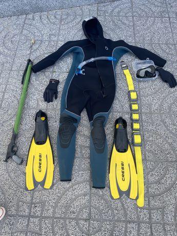 Equipamento de mergulho completo