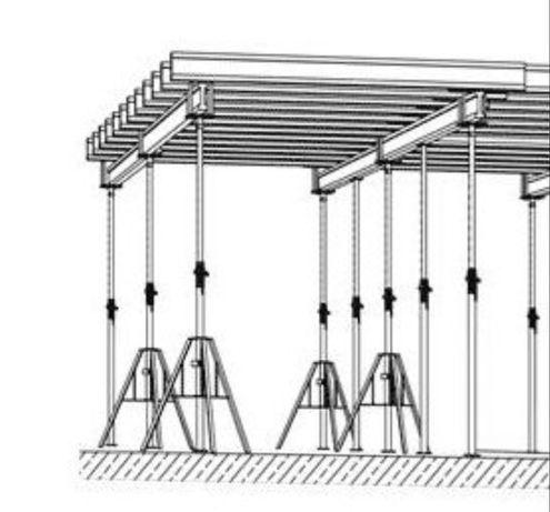 Szalunek na strop 100m2 podpory doka peri dzwigar szalunki stropowe