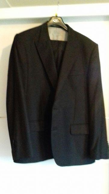 Granatowy męski garnitur Platinum Recman 176/120 jak nowy