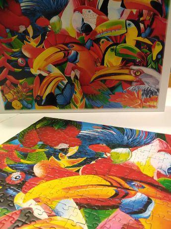 Puzzle kolorowe ptaki Trefl 500 elementów