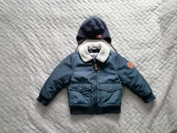 Kurtka zimowa pilotka 98cm czapka