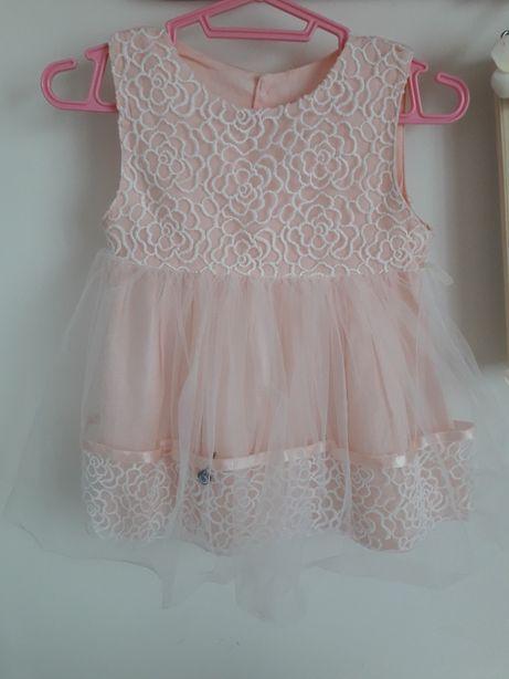 Пышное платье на девочку 9-12месяцев