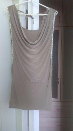 Sukienka lejąca warstwowa