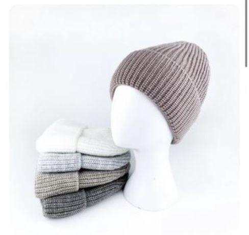 Теплая женская шапка шерсть флис