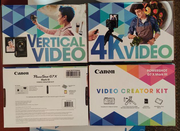 Canon PowerShot G7 X Mark III Black Video Creator Kit NEW