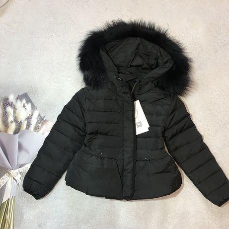 Детская зимняя куртка Пуховик  100% 100см