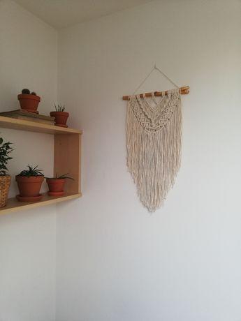 Makrama ścienna ze sznurka bawełnianego