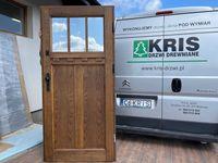 Drzwi zewnętrzne drewniane ocieplane ANGIELSKIE OD RĘKI CAŁA POLSKA