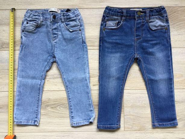 Jeansy spodnie jednobarwne rurki miekkie Zara 86