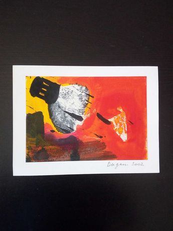 """Pintura a Óleo """"Cône"""" de Yann Dugain, 2002"""