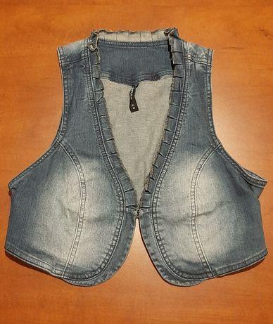 Kamizelka dżinsowa XL