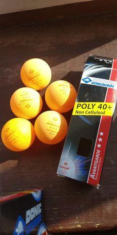 М'ячики для настільного тенісу donic poly+ жовті