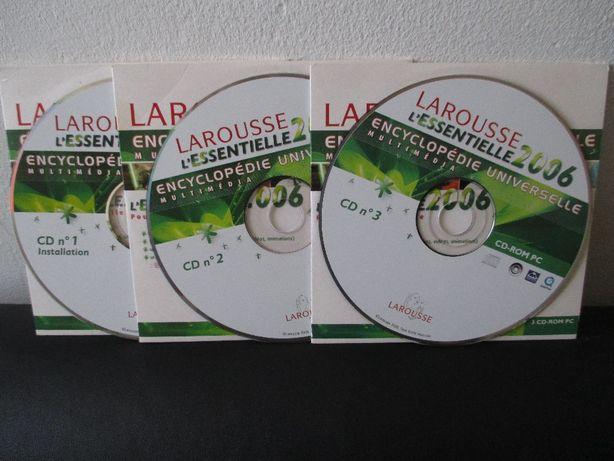 3 CD-ROM Encyclopédie Univ. Multimédia Larousse L'essentielle 2006