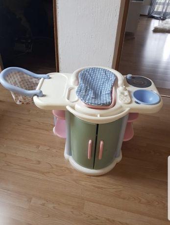 Akcesoria dla lalek wanienka , miseczka , gaz , krzesełko do karmienia