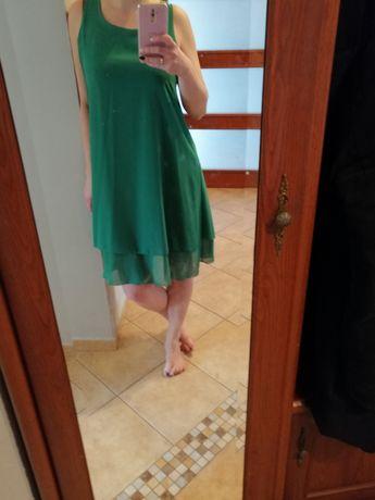 Zielona zwiewna sukienka