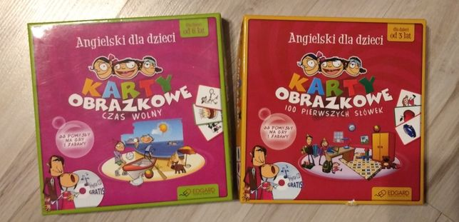 Karty obrazkowe do nauki języka angielskiego dla dzieci