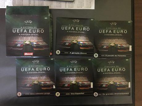 """Coleção DVDs """"A História do Uefa Euro"""""""