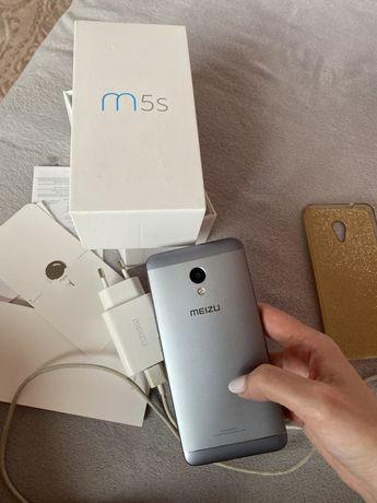 Meizu M5S 3/16 gb grey Рабочий! полный комплект с чехлом