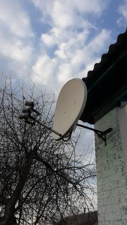 Антенна спутниковая 3 головы