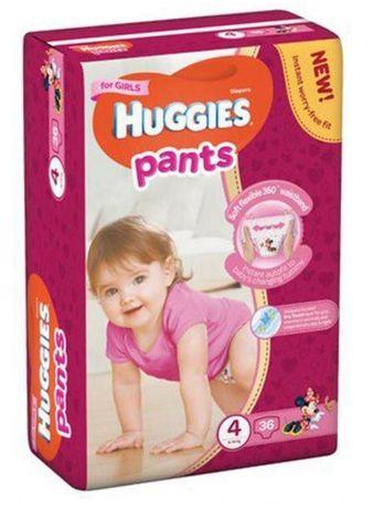 Подгузники-трусики Huggies Pants 4 Girls (9-14 кг) 36 штук