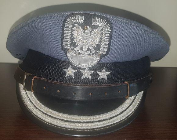 Czapka garnizonowa pilota wojskowego LWP oficer PRL pułkownik