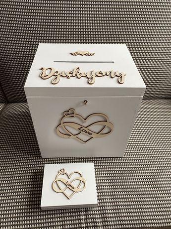 Pudełko na prezenty i na obrączki ślub