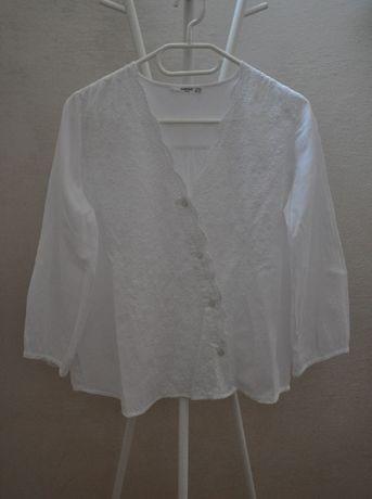 Biała haftowana koszula MANGO 34