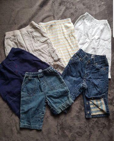 Paczka paka 6 szt spodnie niemowlęce 62 jeansy dresowe