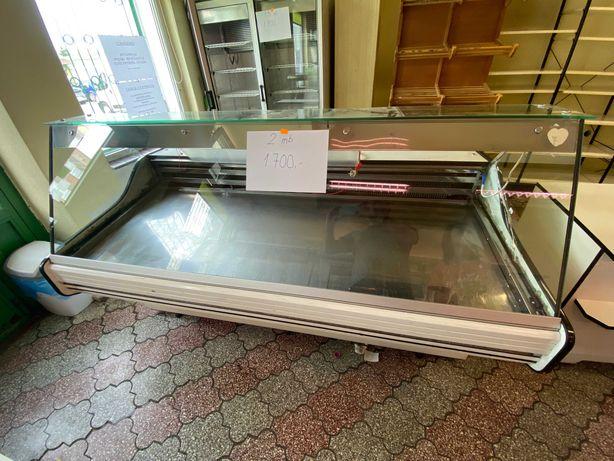 Witryna chłodnicza sklepowa, szkło proste 200 cm