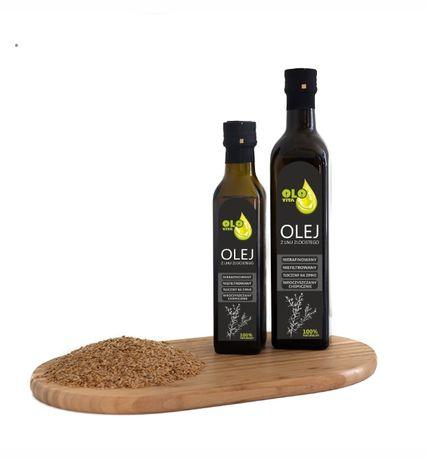 olej z lnu złocistego tłoczony na zimno 500ml