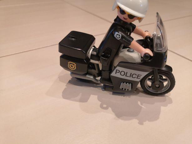 Playmobil motocykl policyjny